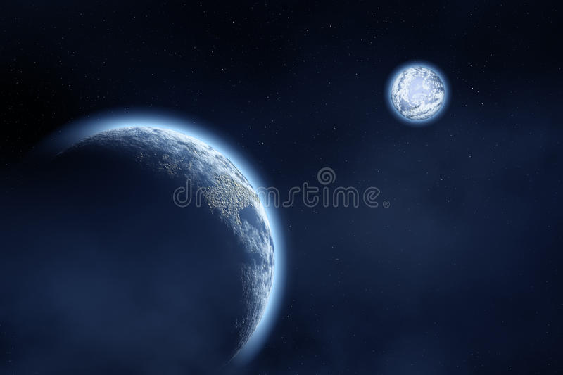 Moon and Earth royalty free stock photography