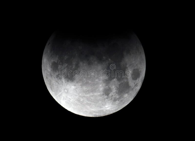Moon, eclipse lunar parcial Los Angeles, Califórnia foto de stock royalty free