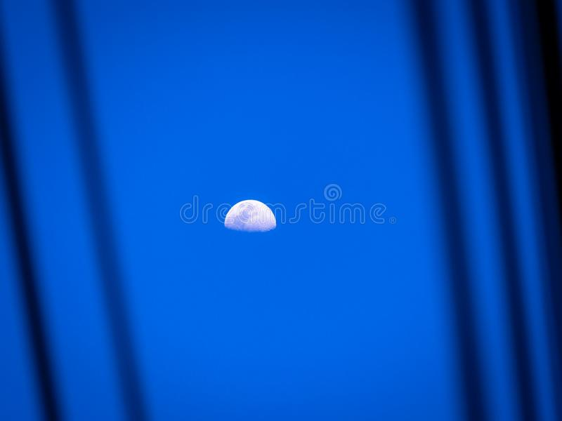 The Moon in The Evening stock photos