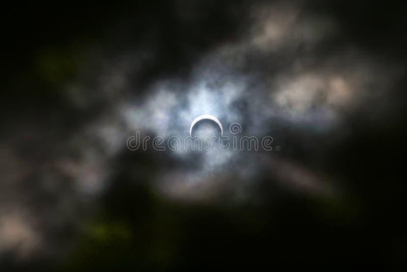 moon för 2005 förmörkelse fotografering för bildbyråer