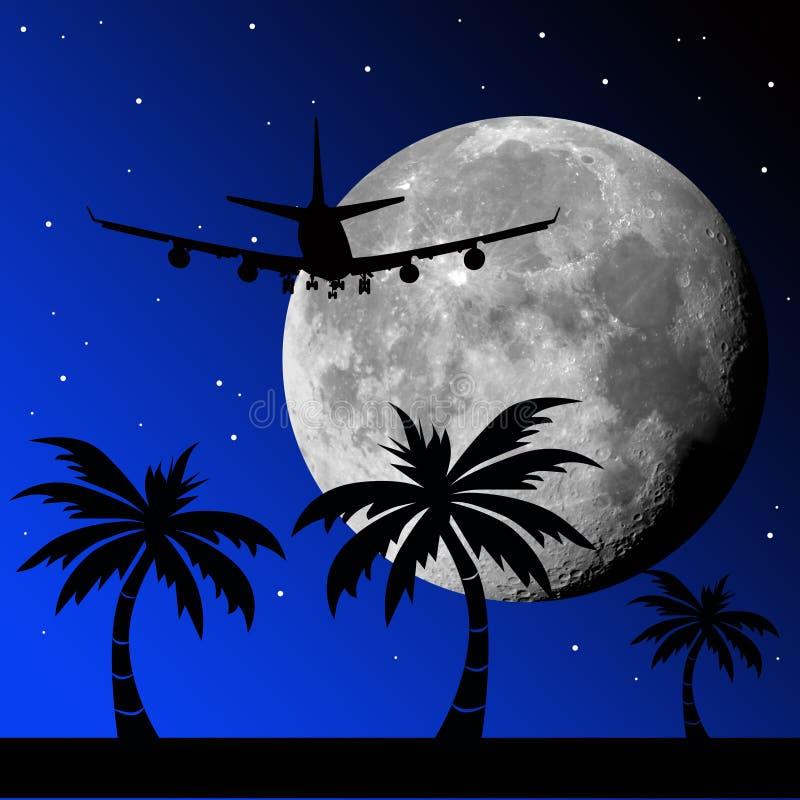 Moon flight vector illustration