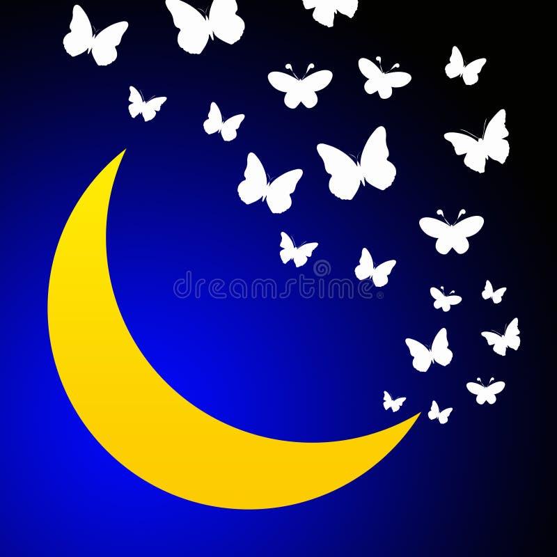 Download Moon flight stock illustration. Image of lunar, night - 16734884