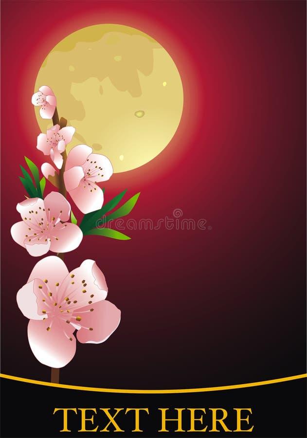 Moon flower royalty free illustration