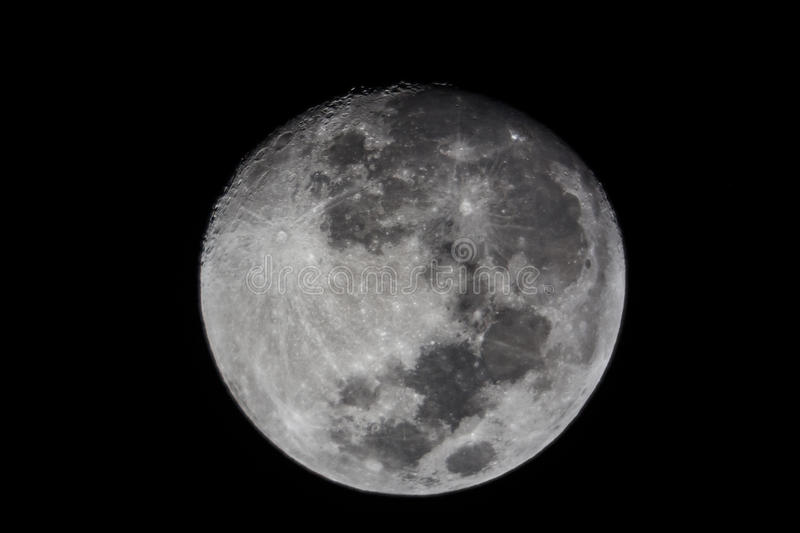 Download The moon stock photo. Image of black, white, side, full - 32450212