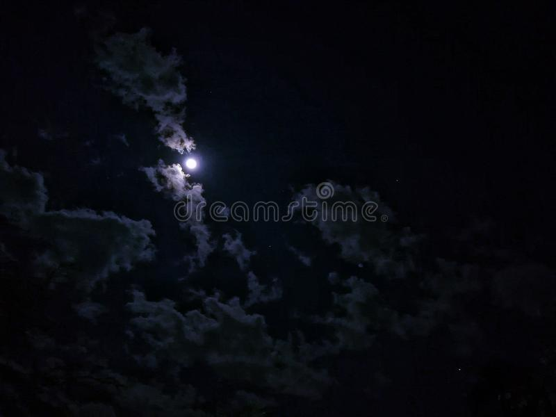 2017 moon gestern Abend stockbild