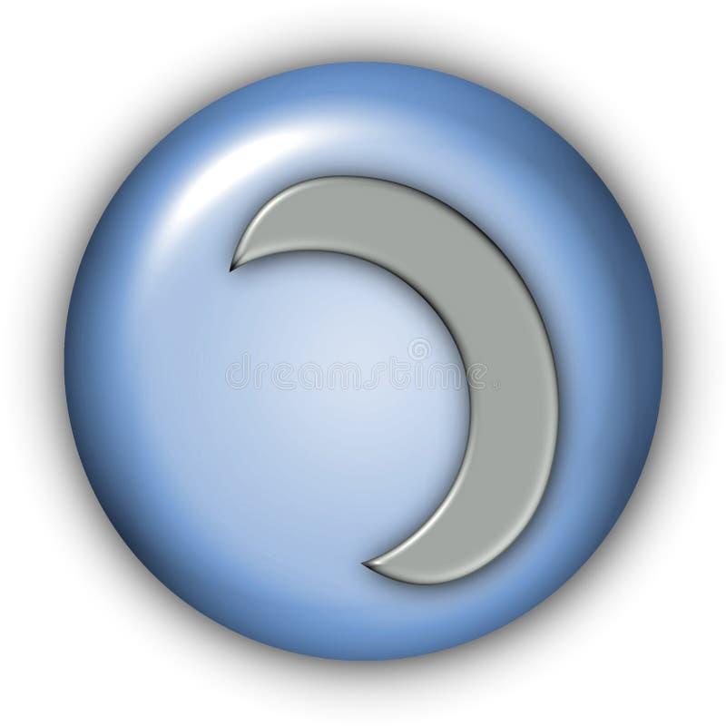 Moon Glyphs lizenzfreie abbildung