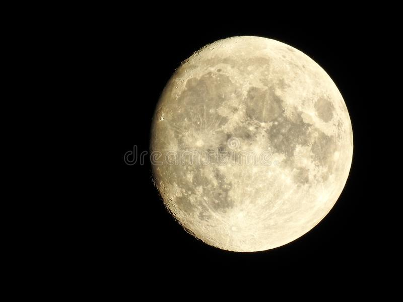 The moon - High quality astrophotography stock photo