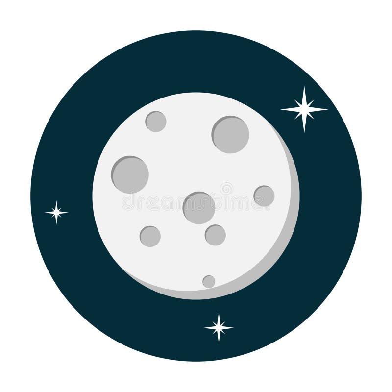 Moon icon flat vector illustration