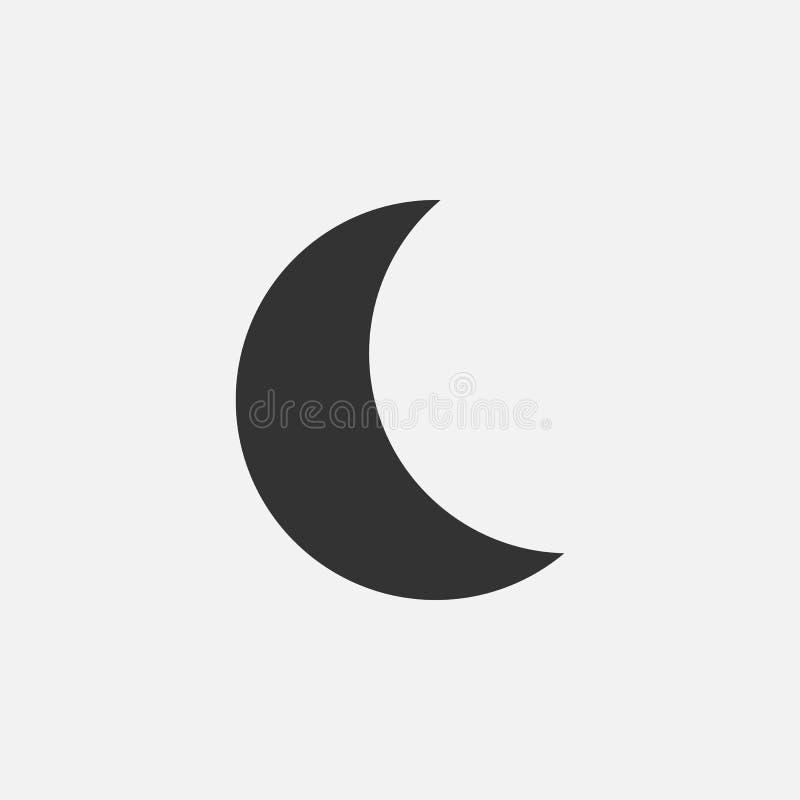 Moon icon, night, sky, sleep stock illustration