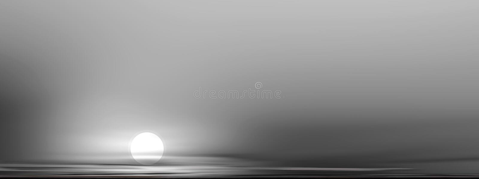 Download The moon illustration stock illustration. Image of panorama - 591749