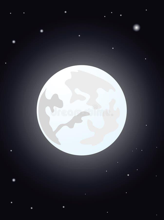 Ilustração da noite da lua fotografia de stock