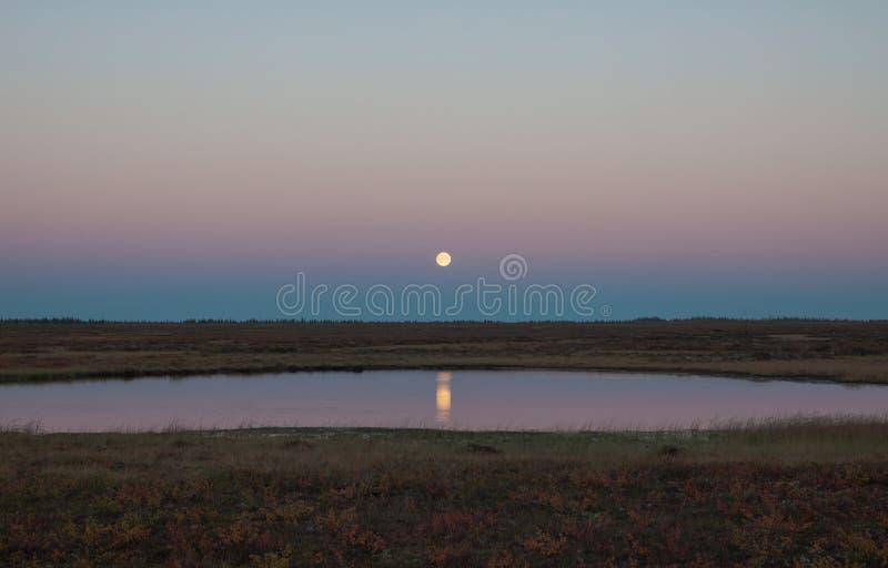 moon lake Daleka Rosyjska północ obraz stock