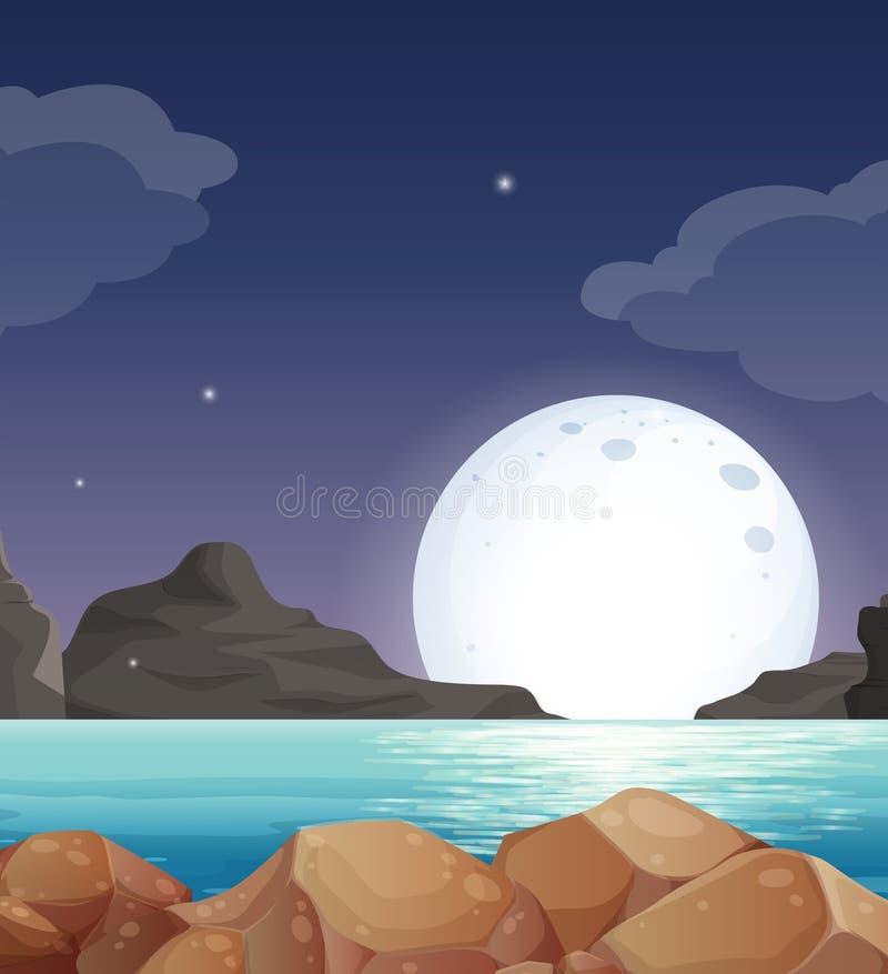 Download Moon landscape stock vector. Image of clip, dark, ocean - 43387994