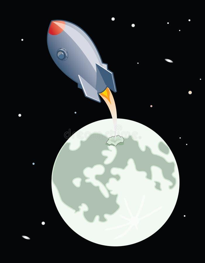 Download Moon Launch stock illustration. Illustration of travel - 13457899