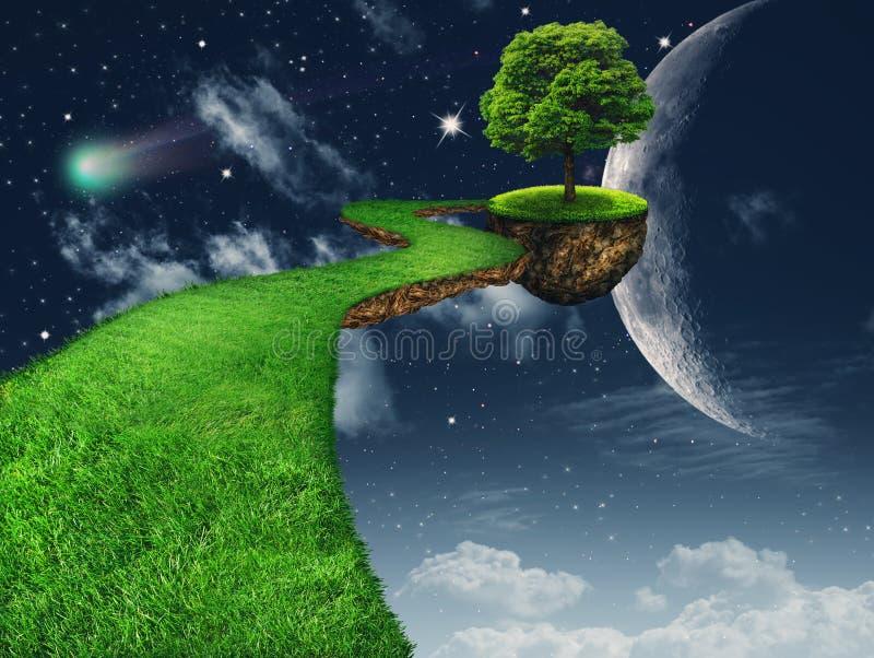 In the Moon light vector illustration