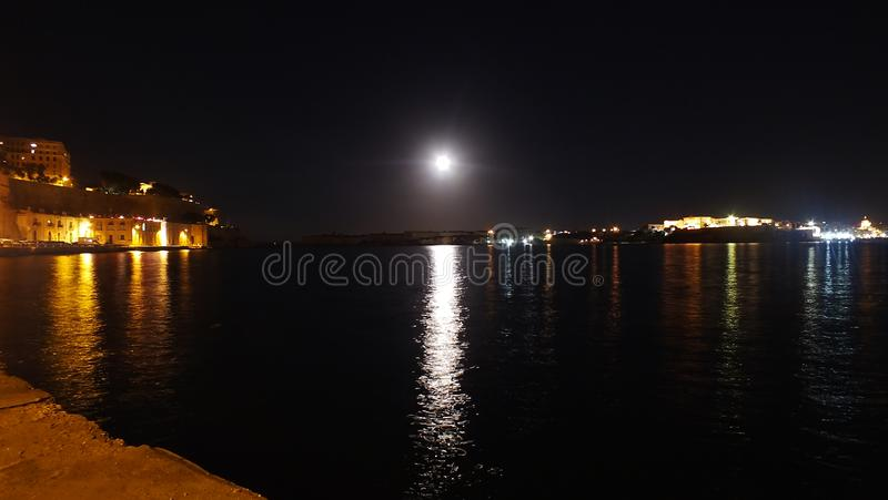 Moon Reflecting in Water stock illustration. Image of ...   Full Moon Reflecting Off Water