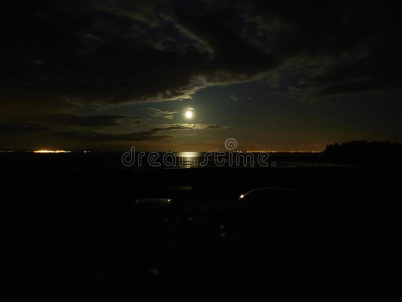 Moon lit clouds royalty free stock image