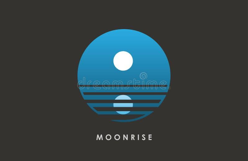 Moon logo design. Creative . Night . Full . vector illustration