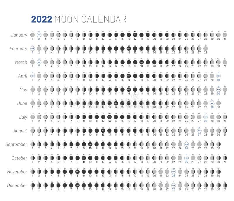 Moon Phases Calendar 2022.Calendar Moon Template Stock Illustrations 1 247 Calendar Moon Template Stock Illustrations Vectors Clipart Dreamstime
