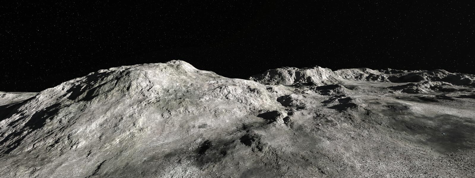 Moon Lunar Landscape Panorama Background royalty free stock photo