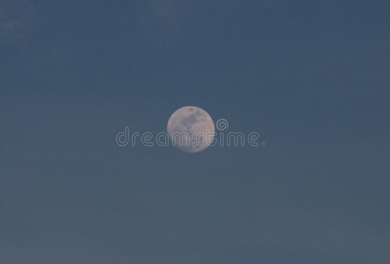 Moon in the blue sky. stock images