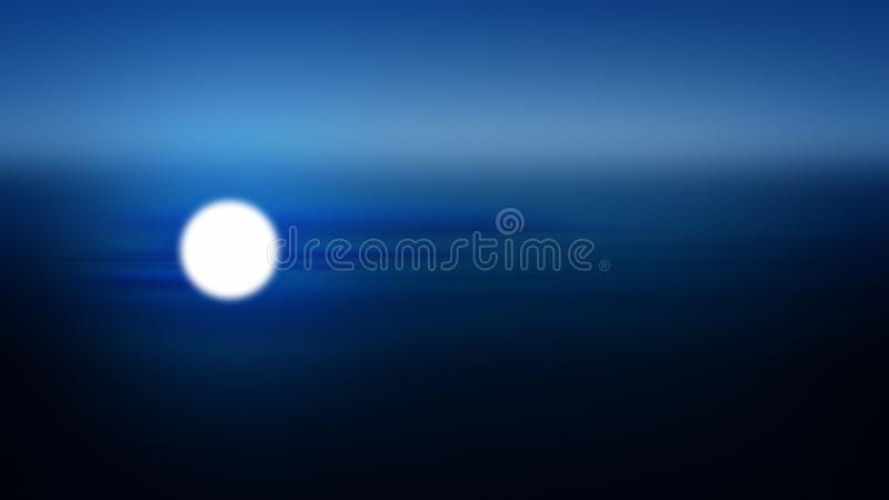 Moon nattgradient i bakgrunden, dramatiskt månljus royaltyfri illustrationer