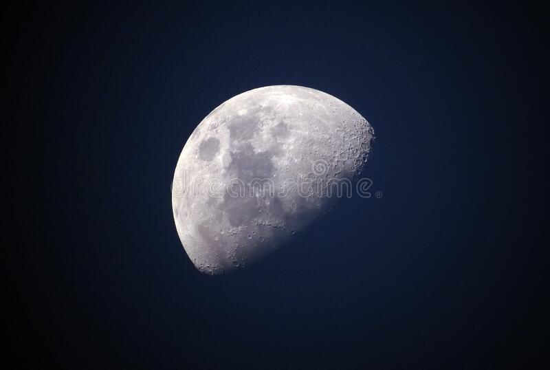Moon, Nature, Atmosphere, Daytime royalty free stock images