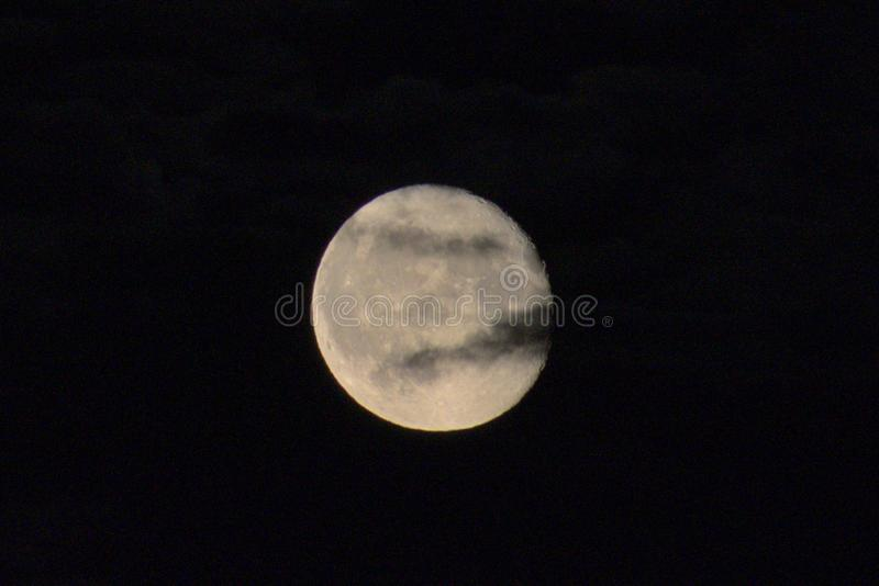 Moon on the nigh sky royalty free stock image