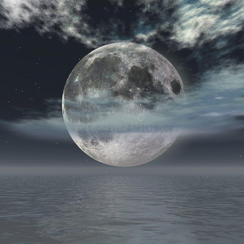 Download Moon night stock illustration. Image of midnight, horizon - 4608362