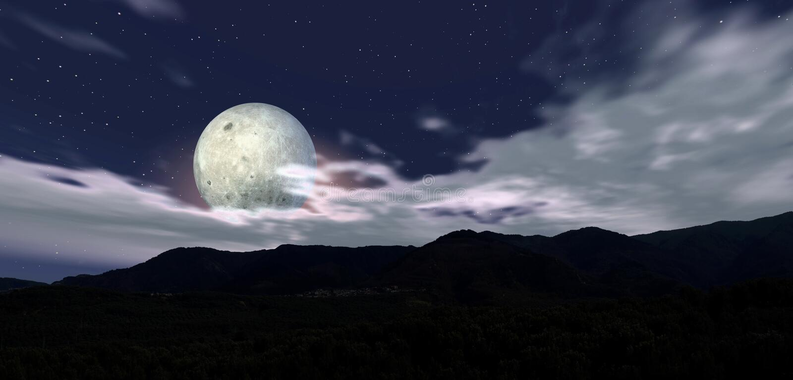 Download Moon night 5 stock illustration. Image of white, light - 4611123