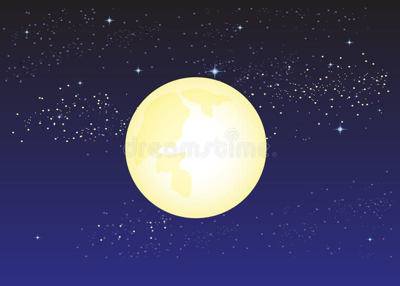 Download Moon night stock vector. Image of night, time, stars - 41901463