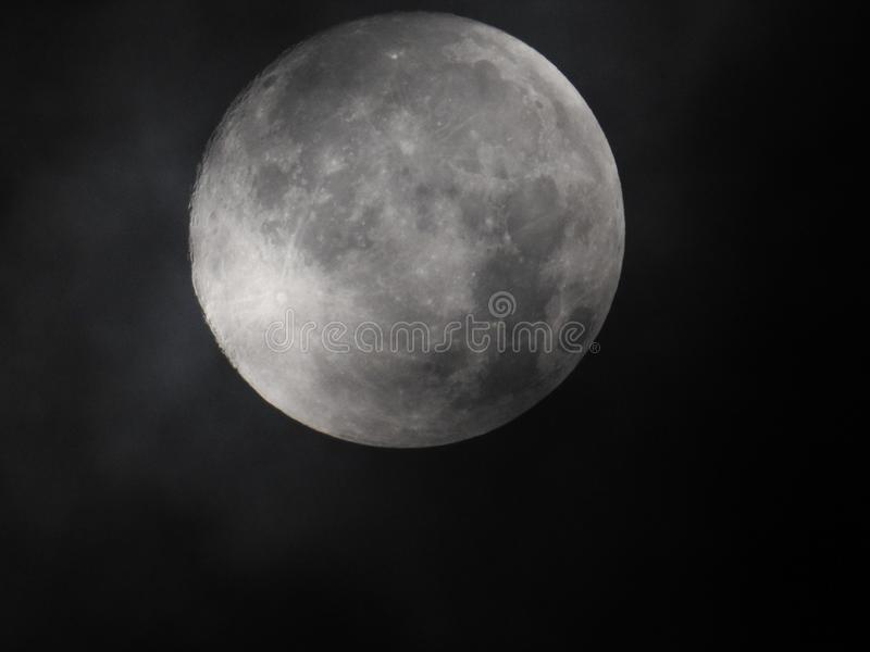Moon at Night stock photography
