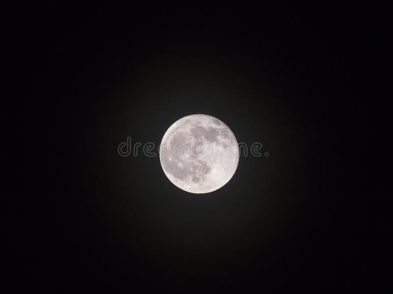 Moon in The Night Lonely in The Universe stock photos