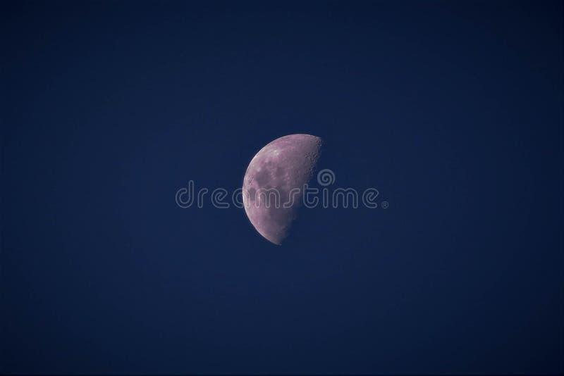 Moon at night of Mauritius stock photo