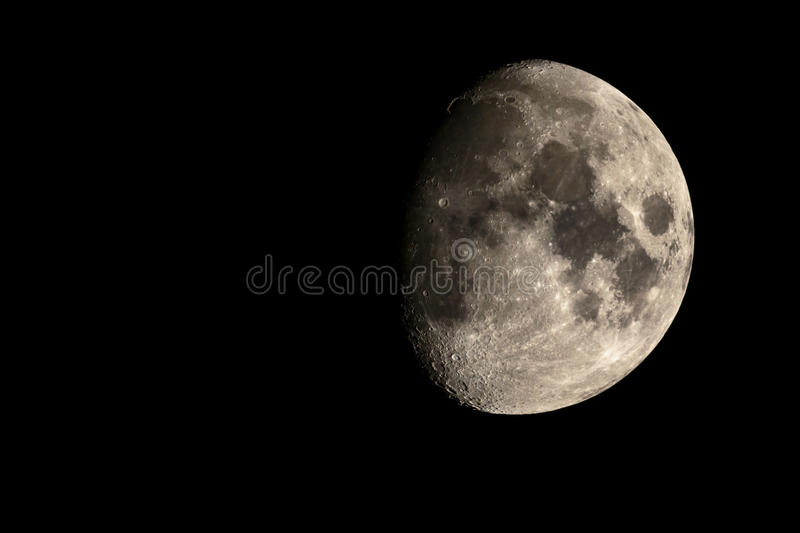 Moon in the night sky royalty free stock images