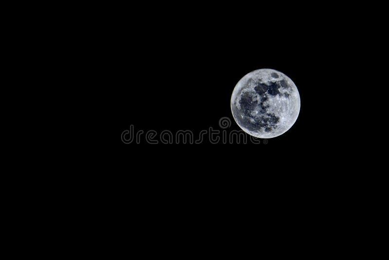 Moon at night stock photo