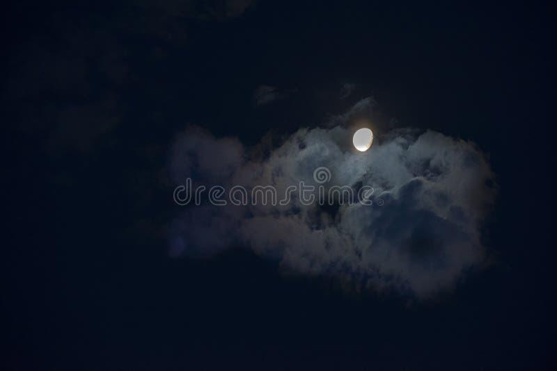 Moon at nigth.La Pampa royalty free stock photos