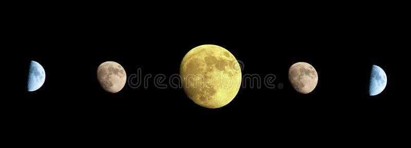 Moon no céu escuro imagens de stock