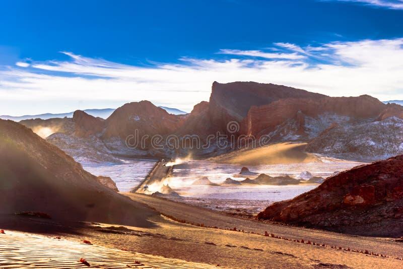 Moon o vale no deserto de Atacam - o Chile imagem de stock