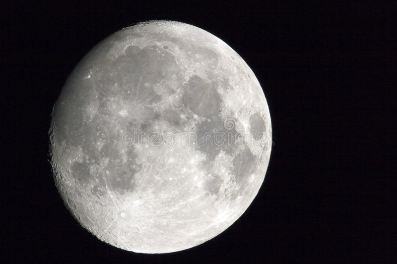 Moon In October Royalty Free Stock Photo