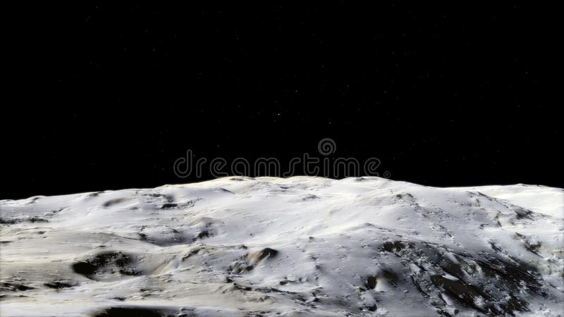 Moon in outer space, surface. High quality, resolution, 4k. This image elements furnished by nasa.  stock photo