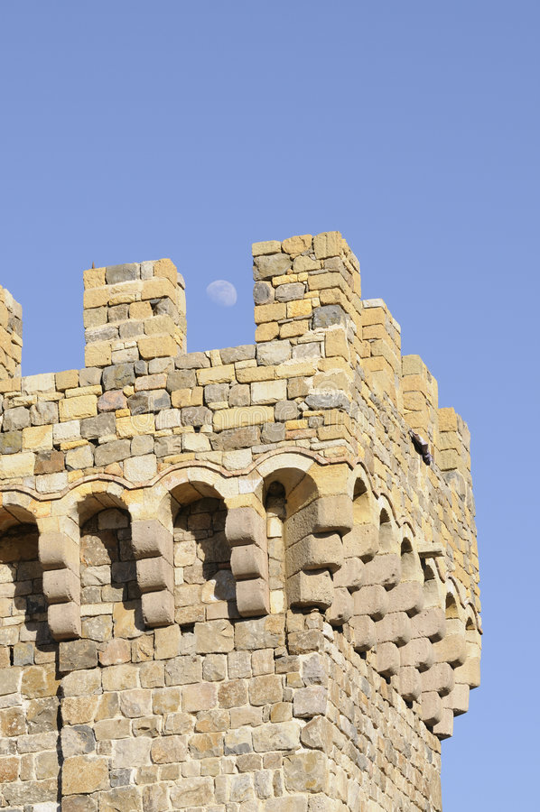 Free Moon Over Castle Tower Stock Photos - 4490823