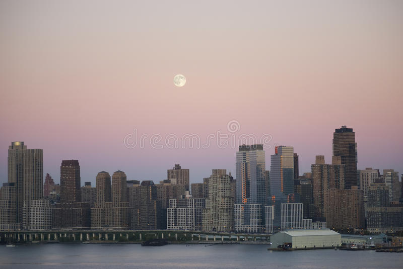 Moon Over New York royalty free stock images