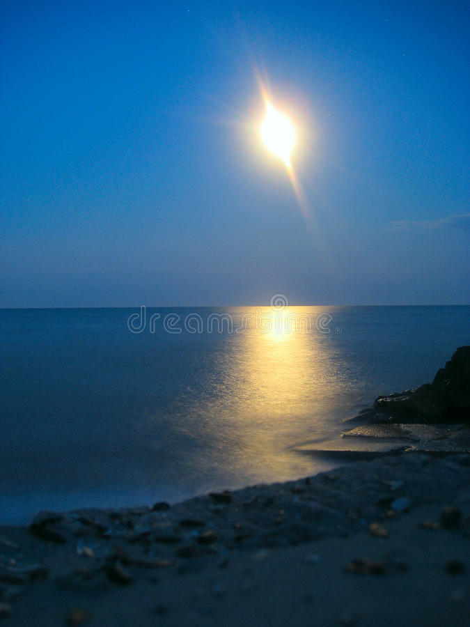 Download Moon Over The Sea Royalty Free Stock Photo - Image: 13039815