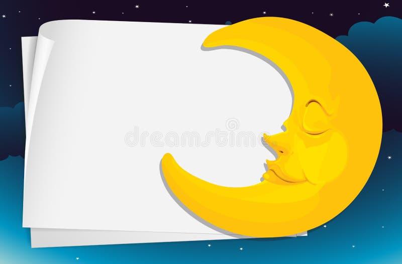 Download Moon paper stock vector. Image of advertizement, moonlight - 24992736
