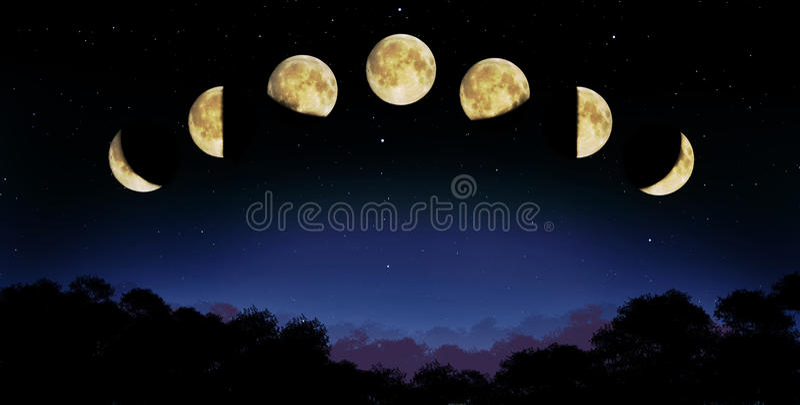 Moon phase stock illustration