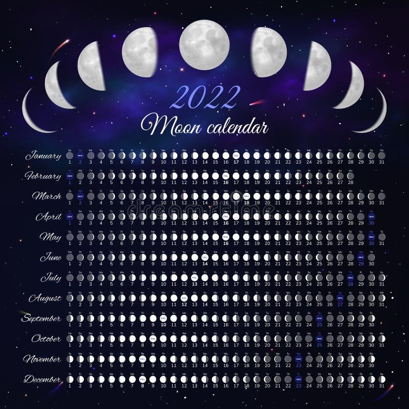 Celestial Calendar 2022.2022 Year Calendar Vertical Design Stock Vector Illustration Of Graphic Frame 121206740
