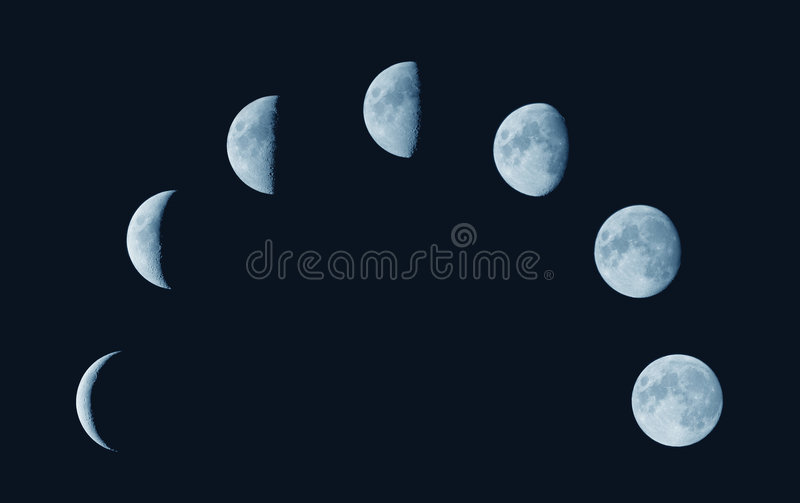 Download Moon phases stock photo. Image of round, right, left, astro - 2811120