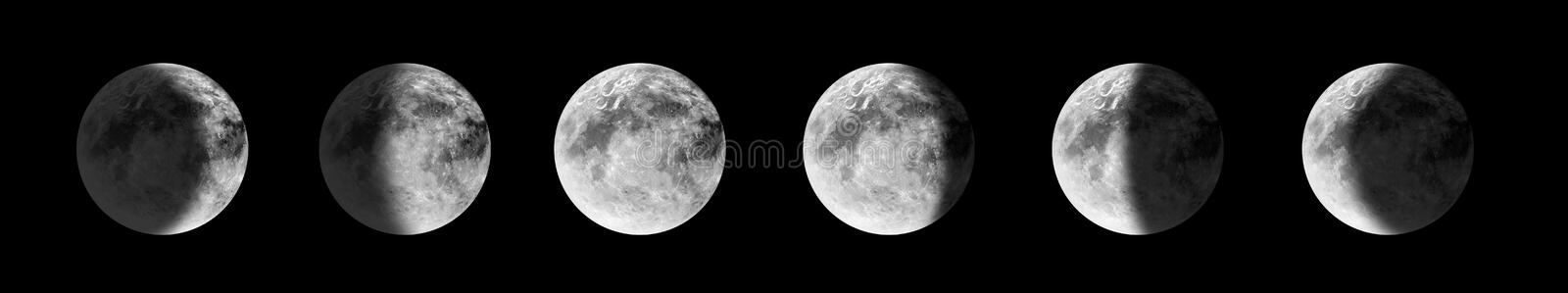 Moon phases stock illustration