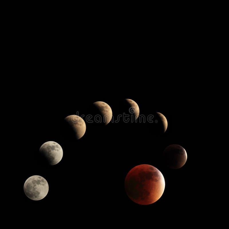 Moon phases royalty free stock photo